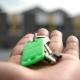 house keys on the palm of a hand